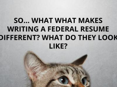 So...What makes writing a federal resume different? What do they look like?